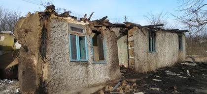 Afgebrand huis Roemenië